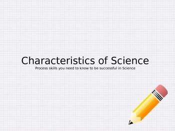 Georgia Performance Standards Characteristics of Science P