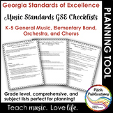Georgia Music Standards - Music - Checklist for Lesson Plans K-5