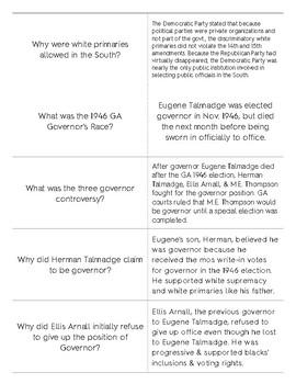 Georgia Post WW2 & Civil Rights Movement Quizlet Flashcards