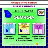Georgia Puzzle BUNDLE - Word Search & Crossword Activities - U.S States - Google
