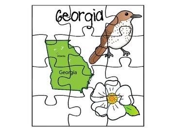 Georgia Puzzle Map Set