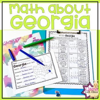Math about Georgia State Symbols through Addition Practice