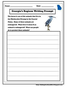 Georgia Regions : A 1st and 2nd Grade Social Studies Unit