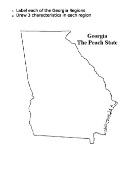 Georgia Regions Blank Map