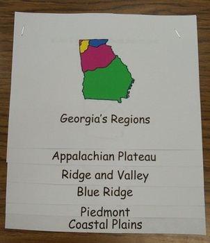 Georgia Regions Book Common Core Reading Unit 3