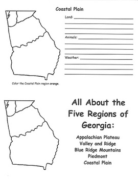 Georgia Regions FlipBook Template
