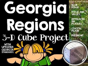 Georgia Regions-Regions of Georgia 3-D Cube Project Kit