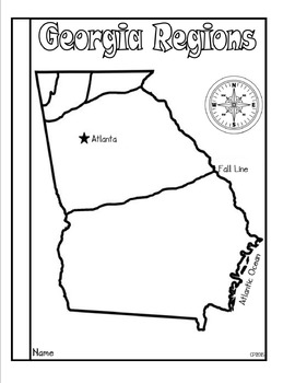 georgia regions tab booklet by classroom panda monium tpt. Black Bedroom Furniture Sets. Home Design Ideas