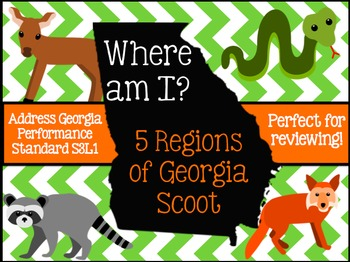 Georgia Regions and Habitat Where Am I Scoot