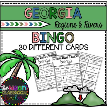 Georgia Regions and Rivers Bingo Game!