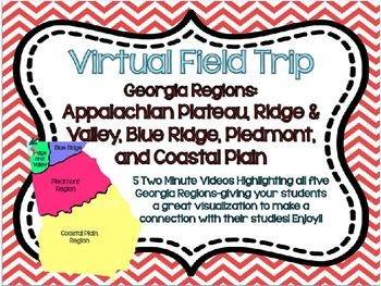 Georgia Regions and Rivers Unit**Includes Virtual Field Trips for ALL Regions