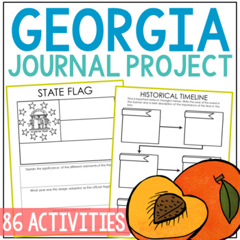GEORGIA History Guided Research Project, Notebook Journal Pages {EDITABLE}