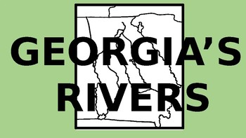 Georgia Rivers Powerpoint