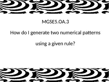 Georgia Sandards of Excellence Essential Questions 5th grade math