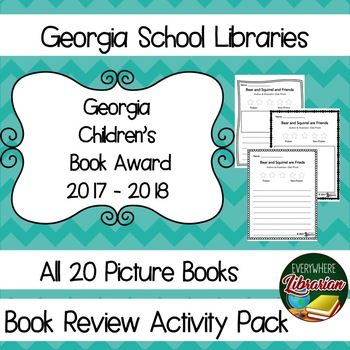 Georgia School Library Children's Book Award 2017 - 2018 Picture Book Review Set