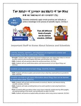 {FREEBIE} Georgia First Grade Science PROCESS Standards