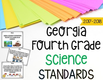 Georgia Science Standards for Fourth Grade Newly Implemented & Revised GSE