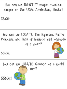 Georgia Science and Social Studies Standards as Essential Questions-3rd Grade