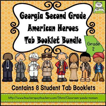 Georgia Second Grade Historical Figures Tab Booklet Bundle