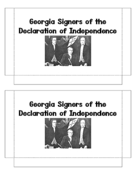 Georgia Signers of the Declaration of Independence Trading Cards