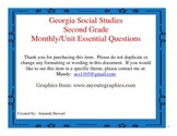 Georgia Social Studies Essential Questions- Second Grade