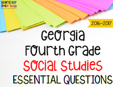 Georgia Social Studies Essential Questions for Fourth Grade Newly Implemented