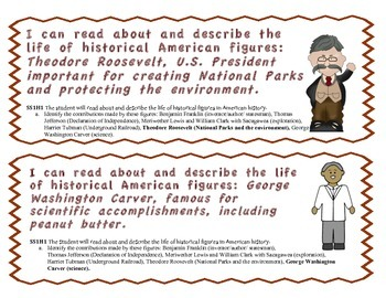 """Georgia Social Studies Standard Signs 1st Grade with """"I Can"""" Statements"""