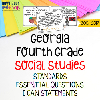 Georgia Social Studies (History) Standards BUNDLE for Fourth Grade Students
