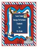Georgia Social Studies Standards Classroom Display