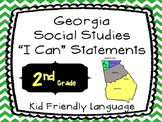 Georgia Social Studies Standards Posters as I CAN Statemen