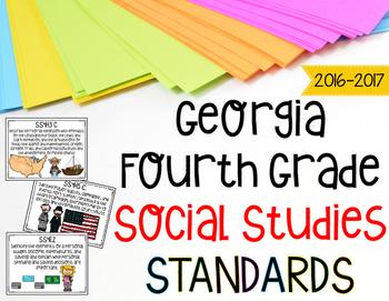 Georgia Social Studies Standards for Fourth Grade Newly Im