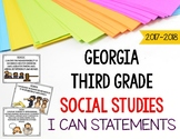 Georgia Social Studies Standards for Third Grade GSE I Can Statements