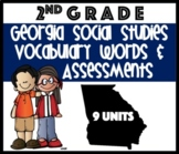 Georgia Social Studies Vocabulary Words & Assessments 2nd Grade Common Core