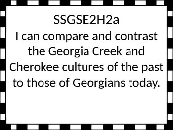 Georgia Standards of Excellence 2nd grade Social Studies I Can Statements