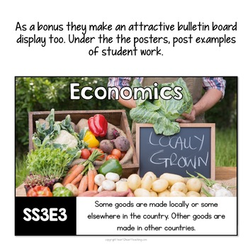 Georgia Standards of Excellence 3rd Grade Social Studies Posters