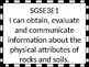 Georgia Standards of Excellence 3rd grade Science I Can Statements