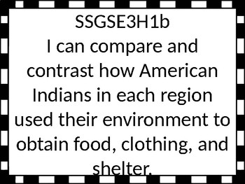 Georgia Standards of Excellence 3rd grade Social Studies I Can Statements
