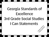 Georgia Standards of Excellence 3rd grade Social Studies I