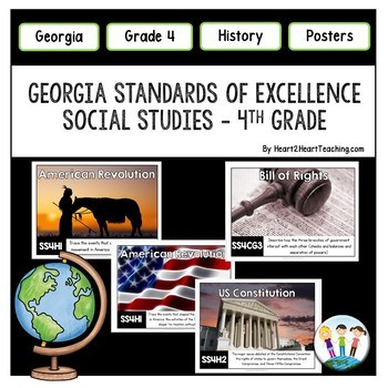 Georgia Standards of Excellence 4th Grade Social Studies Posters