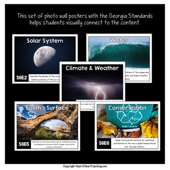 Georgia Standards of Excellence 6th Grade Science Posters