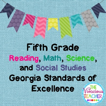 Georgia Standards of Excellence Bundle Fifth Grade Reading