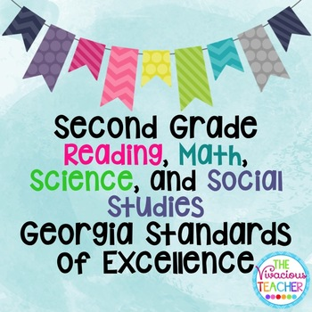 Georgia Standards of Excellence Bundle Second Grade Reading, Math, Science, SS