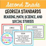Georgia Standards of Excellence Bundle Second Grade Readin