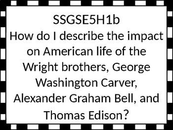Georgia Standards of Excellence Essential Questions for 5th grade Social Studies