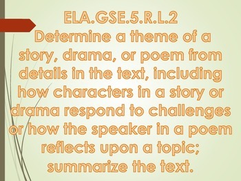 Georgia Standards of Excellence (GSE) Posters-ELA 5th Grade
