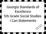 Georgia Standards of Excellence I Can Statements for 5th g