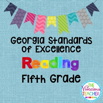 Georgia Standards of Excellence Posters Fifth Grade Reading