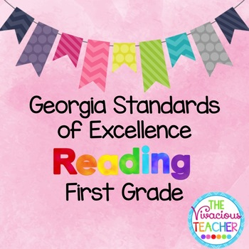 Georgia Standards of Excellence Posters First Grade Reading