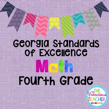 Georgia Standards of Excellence Posters Fourth Grade Math