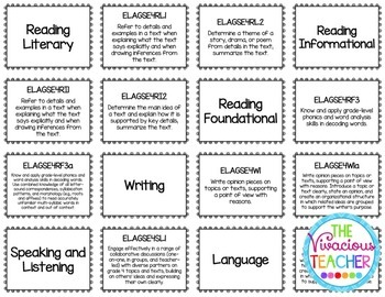 Georgia Standards of Excellence Posters Fourth Grade Reading